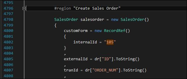 CustomFormSelection