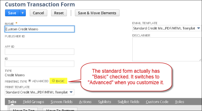 The Printed Form Switcharoo Netsuite Experiences