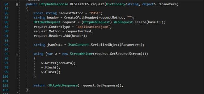 WebRequest Code