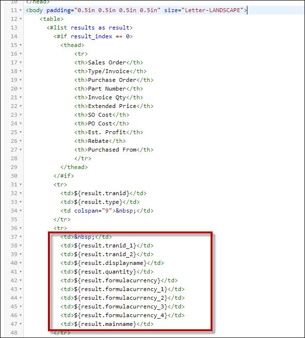Freemarker Code
