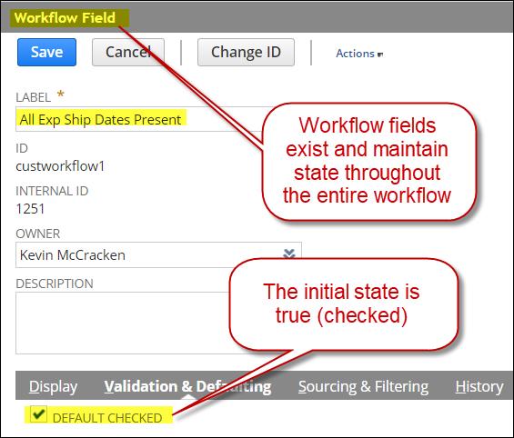 workflow fields