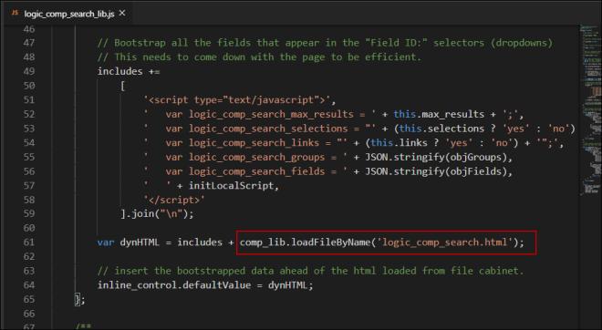 loading html