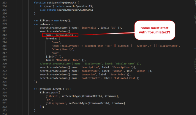 Code Example