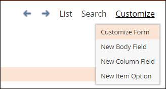 Customize Form